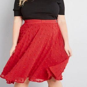 Modcloth Set on Texture A-Line Plus Skirt 2X